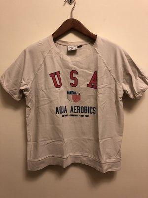 日本Unite Arrow 購入 美國製USA logo 短袖大學T 復舊處理 商品9.5成新
