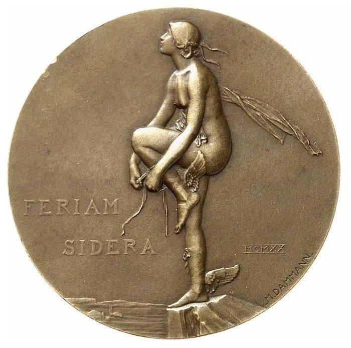 法國銅章 1920 France Aviation Medal by P. M. Dammann.