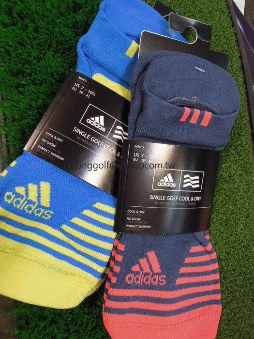 全新 adidas Golf 男用船型襪 厚底吸汗 舒適不悶濕 高爾夫 踝襪