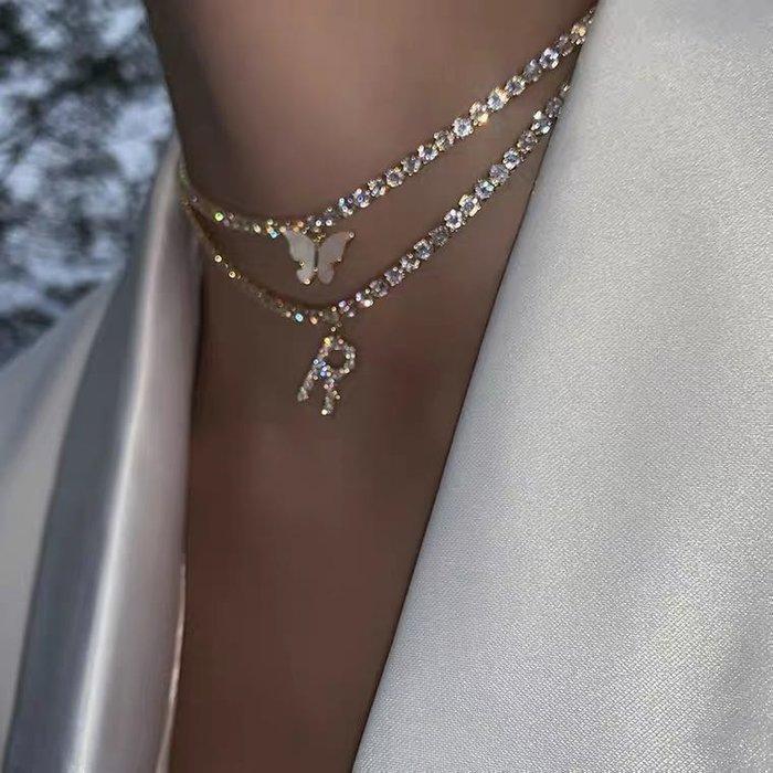 💎歐美小眾-字母項鍊~字母不訂齊全可能斷貨,詢問闆闆 耳環 正韓 飾品 高品質925純銀針