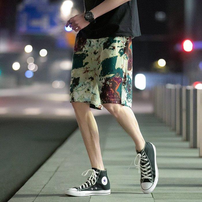 @西西小鋪短褲男新款夏季迷彩寬松休閑運動潮牌中褲潮流潮牌五分沙灘褲