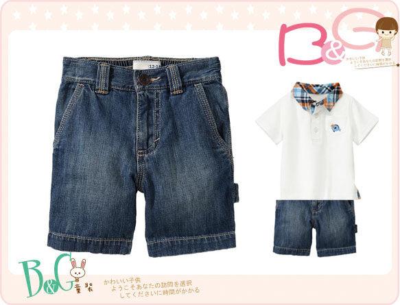 【B& G童裝】正品美國進口OLD NAVY Denim Painter Shorts 男童牛仔短褲12-18mos