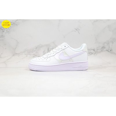 Nike Air Force 1 Low White Barely Grape 淡紫 女 CU3449-100