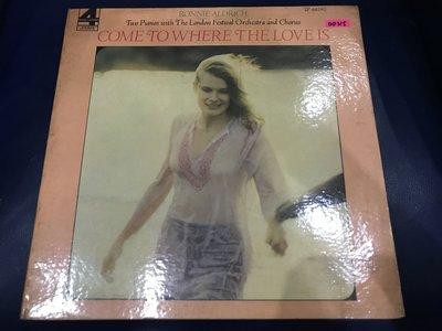 開心唱片 (RONNIE ALDRICH / COME TO WHERE) 二手 黑膠唱片 DD315