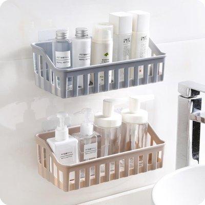 創意免打孔衛生間置物架子廚房塑料墻上壁掛廁所洗手間雜物收納架Y-優思思