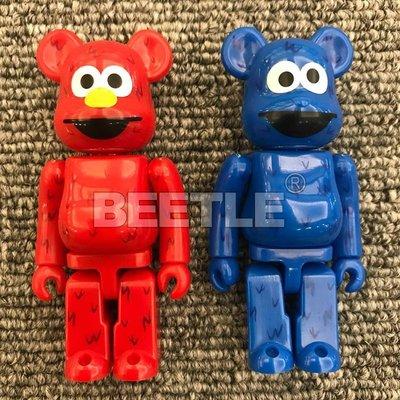 BEETLE BE@RBRICK BEARBRICK 芝麻街 ELMO 餅乾怪獸 愛摩 32代 100% 2入一組