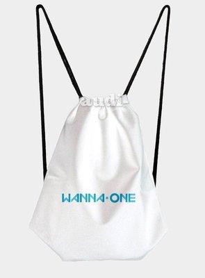 ~須 ~Wanna One 單面彩印束口包 後背包 束口背包 丹尼爾 賴冠霖雙肩後背包 中性休閒後揹書包 韓團周邊訂做