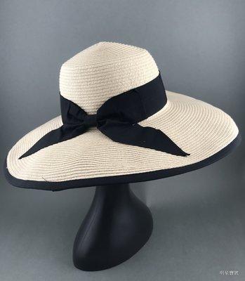 [我是寶琪] 亞麻色寬緣帽子