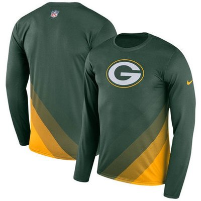 超大碼衣櫥 綠灣包裝工 長袖Green Bay Packers Green Sideline Legend Jersey0530