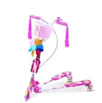 滑步車 兒童三輪音樂蛙式滑板車剪刀車閃光3-6-12歲 HBC .