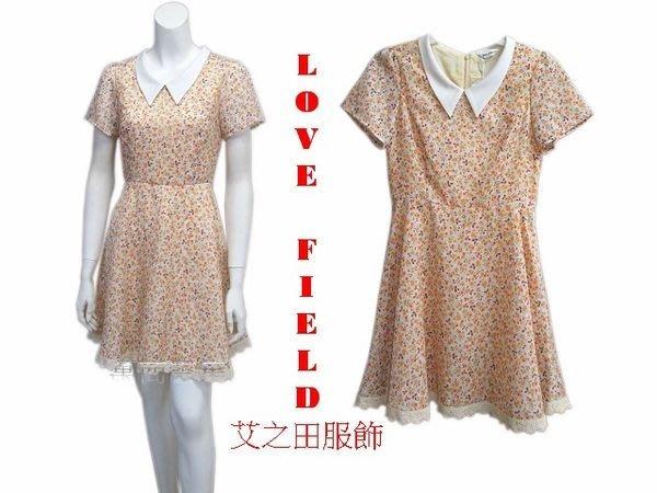 [萬商雲集]全新 艾之田服飾 鄉村甜美風小碎花短袖小圓裙洋裝 連身裙 上衣 G70541