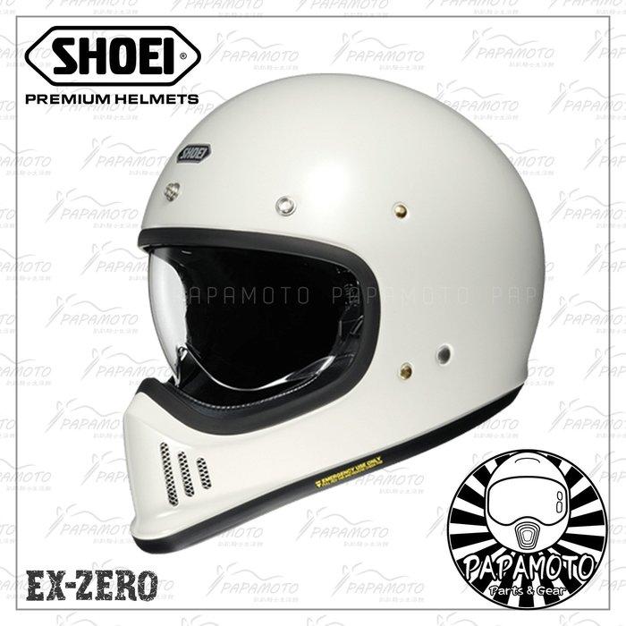【趴趴騎士】SHOEI EX-ZERO 白色 山車帽 復古越野安全帽