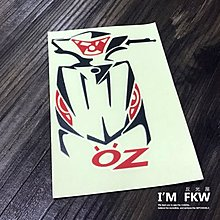 OZ Aeon 宏佳騰 機車車型貼紙 機車反光貼紙 設計師手繪款 車型貼 反光屋FKW