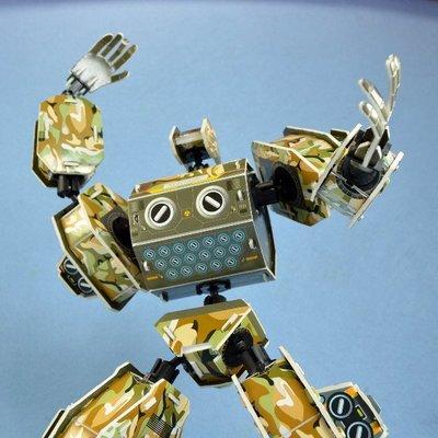 佳廷家庭 親子DIY紙模型立體勞作3D立體拼圖專賣店 機器人裝甲獸 白羊座 關節可動Microrobot麥克羅伯