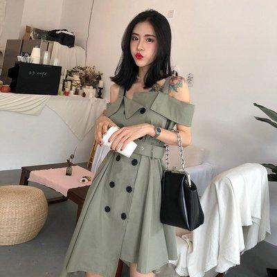 輕熟流行女裝大學生冷淡風復古港風裙子女夏chic連衣裙pphome18潮