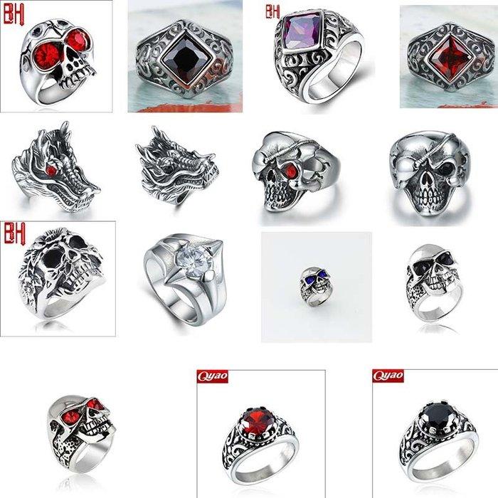 【藏私】戒指出口BOHO韓版潮男復古飾品首飾批發大鋯石指環歐美風格