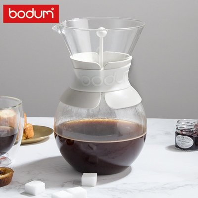 手沖壺bodum波頓滴濾式咖啡壺不銹鋼濾網玻璃手沖壺1000ml POUR OVER咖啡壺