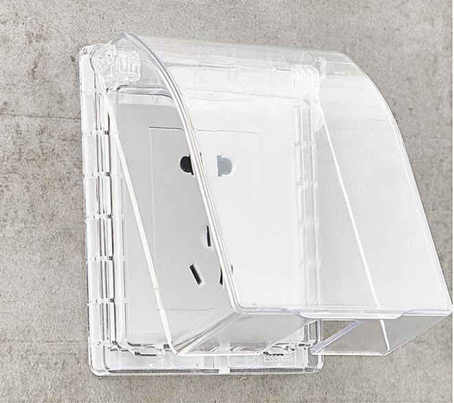 86型透明自粘貼式防水罩防濺盒開關面板浴室衛生間防水插座保護蓋-風行購物街