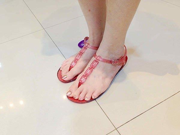 嘉年華 巴西鞋人字 Ipanema 平底果凍鎖鏈涼鞋 零碼出清