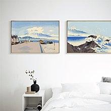 璞圖浮世繪富士山矢量插畫版客廳臥室壁畫現代簡約酒店賓館裝飾畫