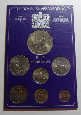【鑒 寶】(世界各國錢幣)英國 1972,73,75,76年 7枚 ,不同面值的 套幣 United Kingdom BTG1436