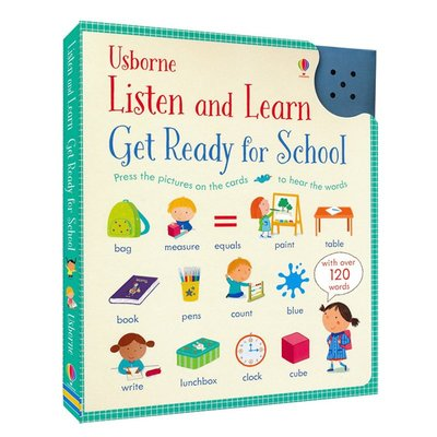 Usborne英語單詞發聲書 英文原版 Listen and Learn Get Ready for School 英語