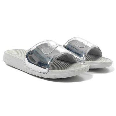 【M.C 出清 換現】Nike Benassi Solarsoft Slide SP Liquid Metal 銀 拖鞋