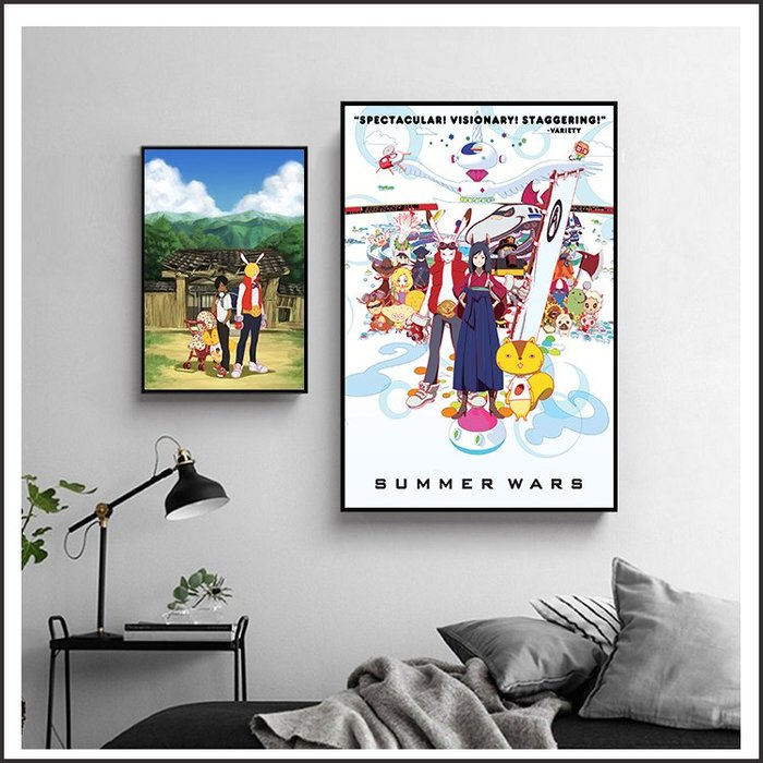 日本製畫布 電影海報 夏日大作戰 Summer Wars 掛畫 嵌框畫 @Movie PoP 賣場多款海報~