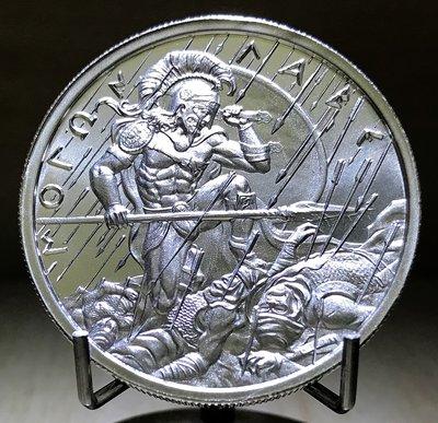 «自由銀» Molon Labe 高浮雕款-穆隆·拉貝 銀幣 (2 toz=62.2g)