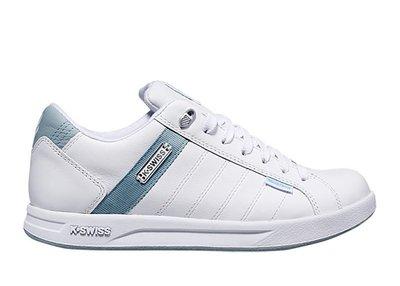 =E.P=K-SWISS LUNDAHL WP 白綠 休閒 皮革 防水 記憶鞋墊 小白鞋 百搭 女版 96100-152
