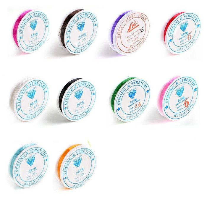 禧禧雜貨店-圓形透明魚絲線彈力線珠寶線佛珠線手鏈線DIY配件水晶線