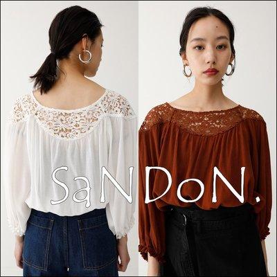 SaNDoN x『moussy』秋季單品 2way超唯美蕾絲花邊襯衫上衣 sly  snidel 韓妮 180803