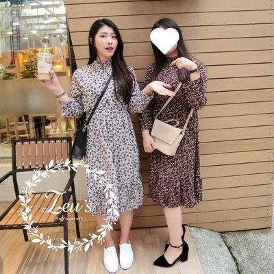 【ZEU'S】秋裝新款休閒復古碎花收腰洋裝『 09218903 』【現+預】IA