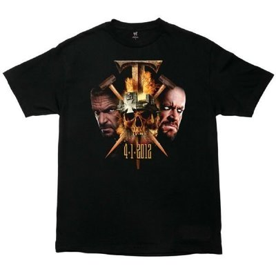 ☆阿Su倉庫☆WWE WrestleMania 28 End of an Era T-Shirt 摔角狂熱傳奇終結紀念款