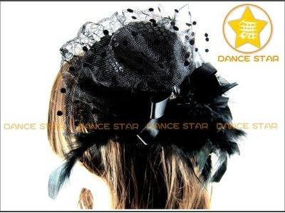 舞星~爵士舞帽新娘婚紗禮服 舞會夜店 肚皮舞~1411289#高檔百搭小禮帽 附雙夾 ~3色~單個120元