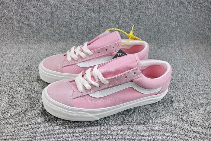 Vans Vault OG style 36 粉白 經典復古 低幫 休閒滑板鞋 女鞋 VN0A3DZ3RFY