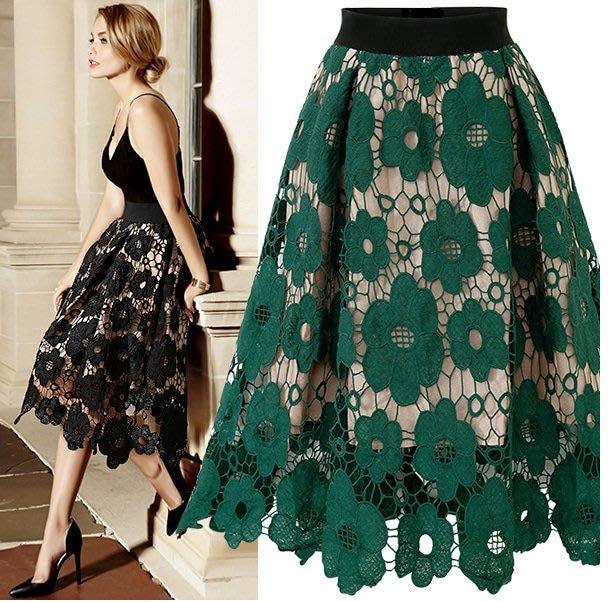 A字裙 半身裙32314/速賣通亞馬遜ebay新款外貿歐美風蕾絲半身裙  胖胖美依