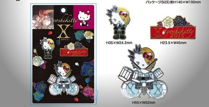 X JAPAN 週邊 Yoshiki Yoshikitty 精緻胸章組