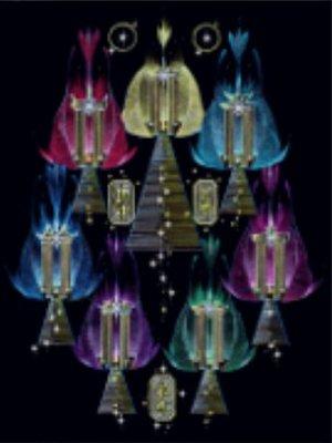 [心靈之音] #44 默基瑟德火焰的黃金七神廟(靈性成長與力量)-能量催化圖-美國進口中文說明