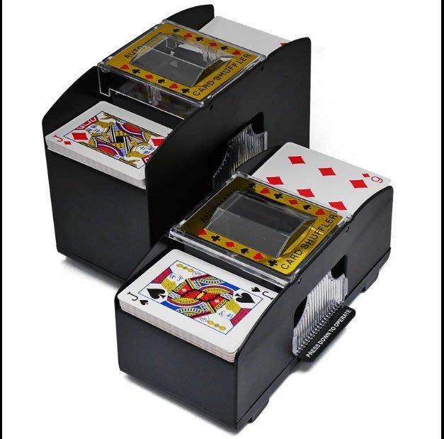 自動洗牌器 一次洗兩副 自動洗牌 自動洗撲克牌  電動洗牌機 快速不費力 任何紙牌都可洗  過年佳節桌遊神器【HT51】