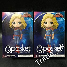 19年12月新貨!全新未開封 日版 Banpresto Q-posket Captain Marvel 復仇者聯盟 Avengers 組立式景品