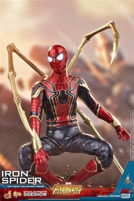 hottoys全新未開iron spider