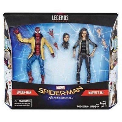 現貨! Marvel Legends 孩之寶 6吋 蜘蛛人 離家日 返校日 MJ 雙人包
