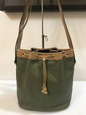 二手正品 Dior 綠色水桶包/肩背包/斜背包