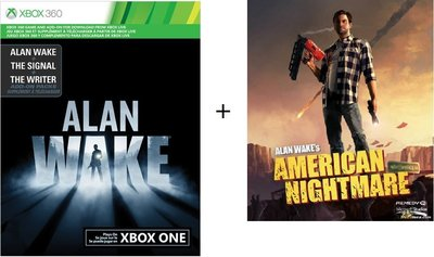 可超商代碼繳費 XBOX360 心靈殺手 ALAN WAKE 下載卡+心靈殺手 美國夢靨 下載卡 XBOX ONE 可用