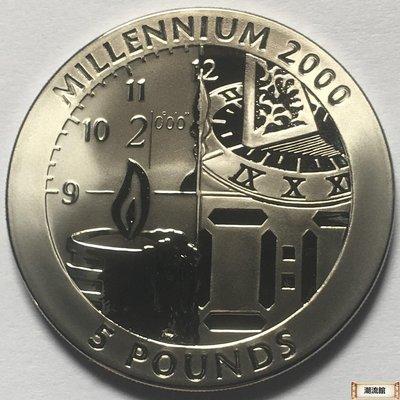 硬幣錢幣外國紀念幣千禧年 直布羅陀1999年5鎊千禧年鈦金幣 紀念幣 克朗型硬幣38[潮流館]-1331