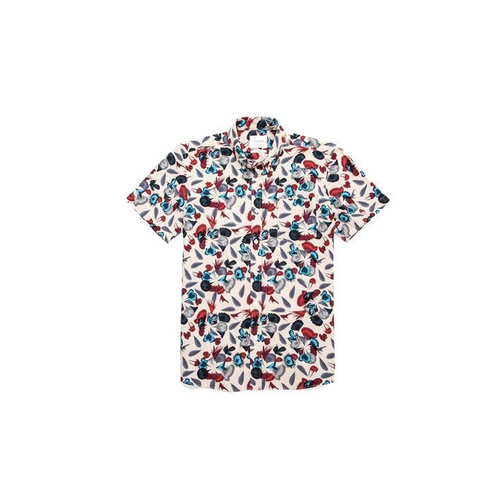 WaShiDa【1421】SATURDAYS NYC 美國品牌 ESQUINA BALI 花紋 短袖襯衫 現貨 SALE