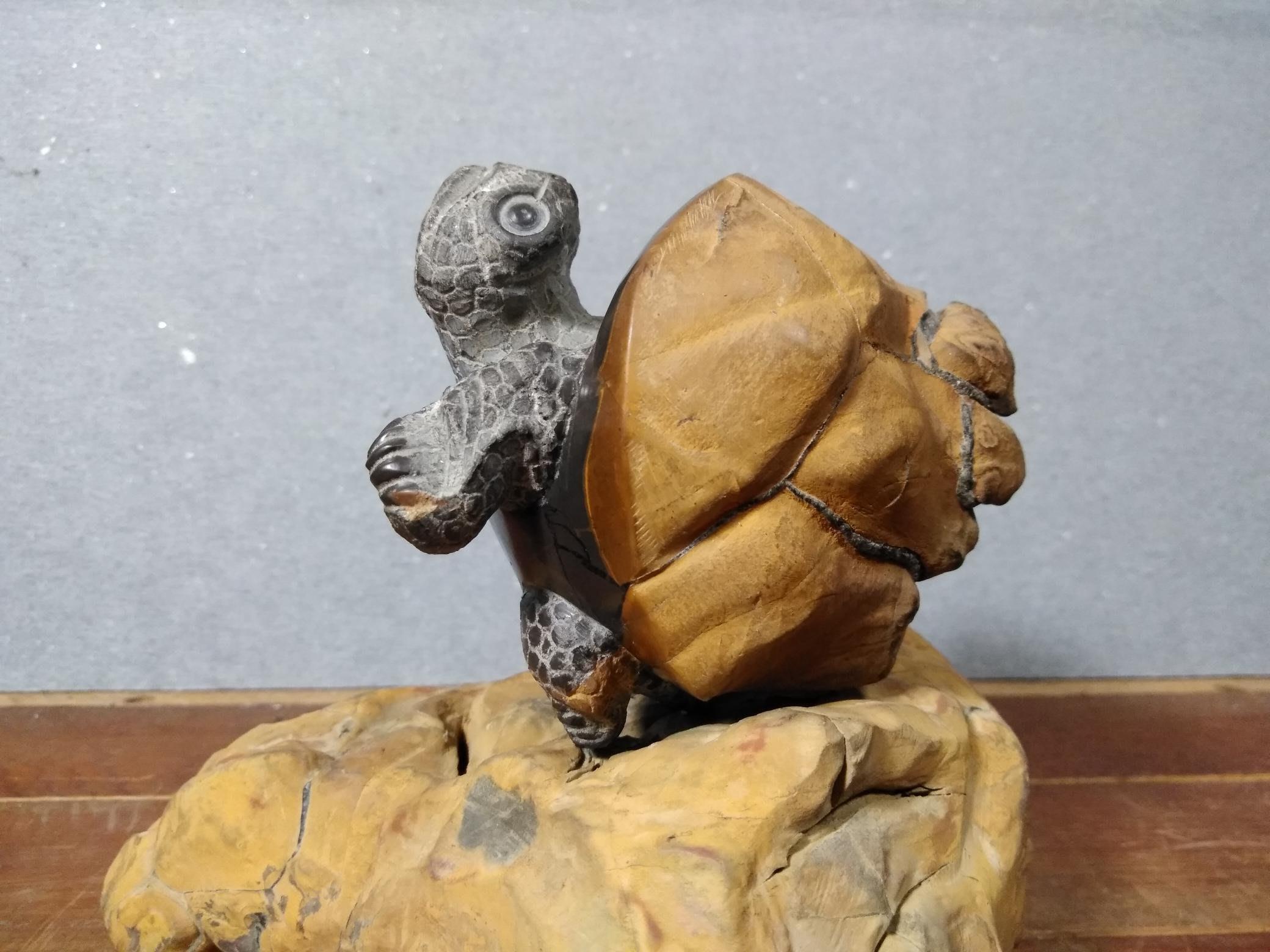 典藏李佾-黃龜甲石原皮平安龜2