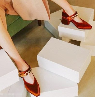 SeyeS {韓國空運} 個性英倫歐美時尚搖滾鎖鍊2 way扣帶娃娃鞋