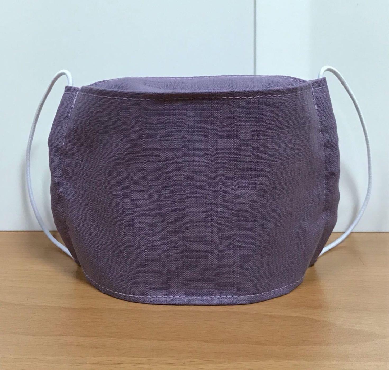 沛軒手作坊~(節紗棉布)仿日韓系3D立體(船型)布口罩,裡布有夾層可更換濾材,可水洗重複使用又環保!(附鬆緊繩)3DMask成人口罩台灣製造MIT(紫色)